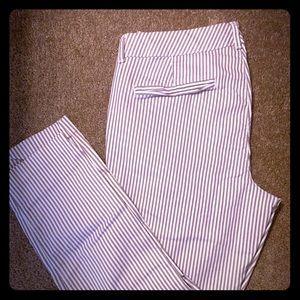Pinstripe Pixie Pants
